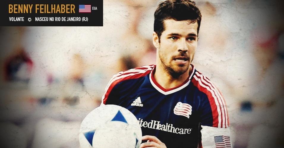 Benny Feilhaber: volante nasceu no Rio de Janeiro (RJ) e joga pela seleção dos Estados Unidos