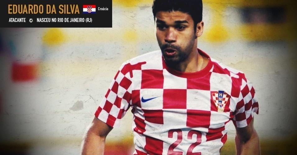 Eduardo da Silva: atacante nasceu no Rio de Janeiro (RJ) e joga pela seleção da Croácia