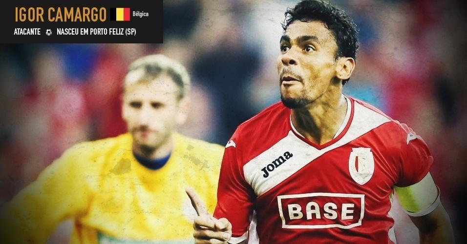 Igor de Camargo: atacante nasceu em Porto Feliz (SP) e joga pela seleção da Bélgica