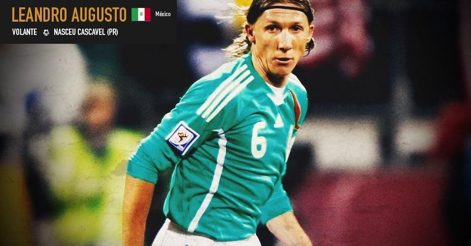 Leandro Augusto: volante nasceu em Cascavel (PR) e joga pela seleção do México
