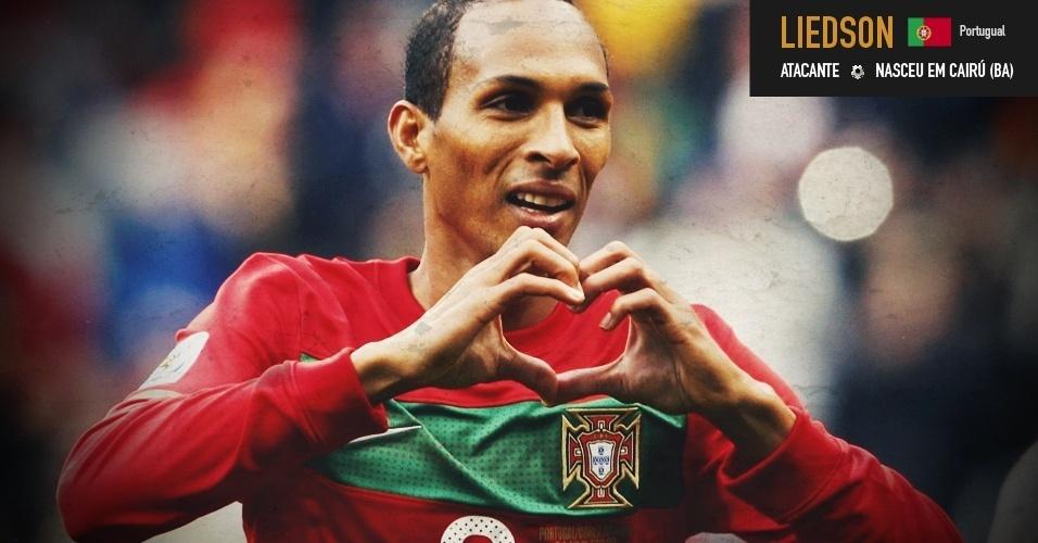 Liedson: atacante nasceu em Cairú (BA) e jogou pela seleção de Portugal