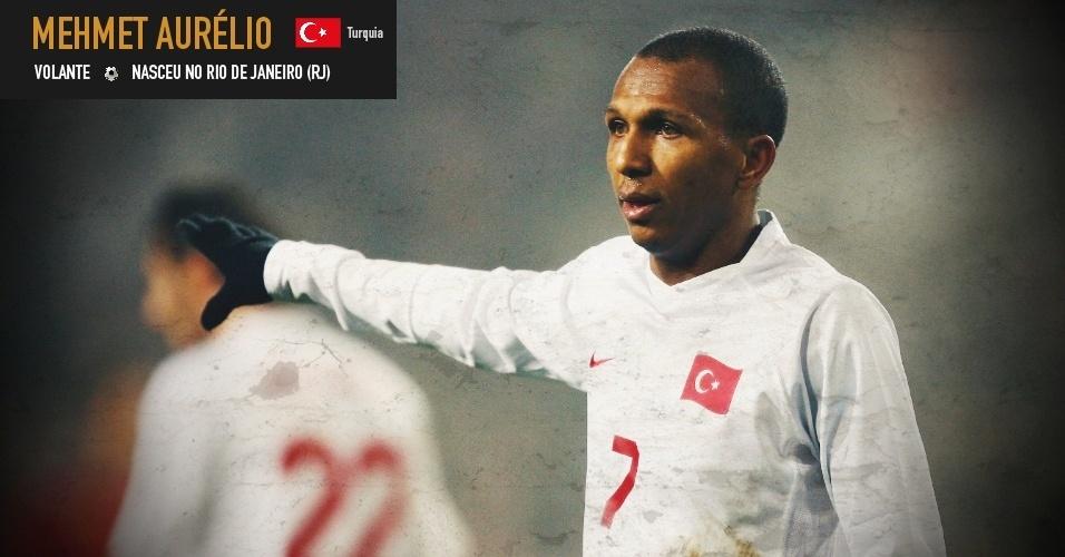 Marco (Mehmet) Aurélio: volante nasceu no Rio de Janeiro (RJ) e joga pela seleção da Turquia