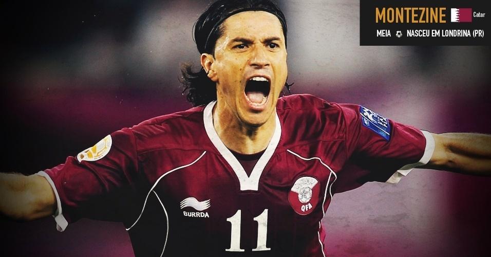 Montezine: meia nasceu em Londrina (PR) e joga pela seleção do Qatar