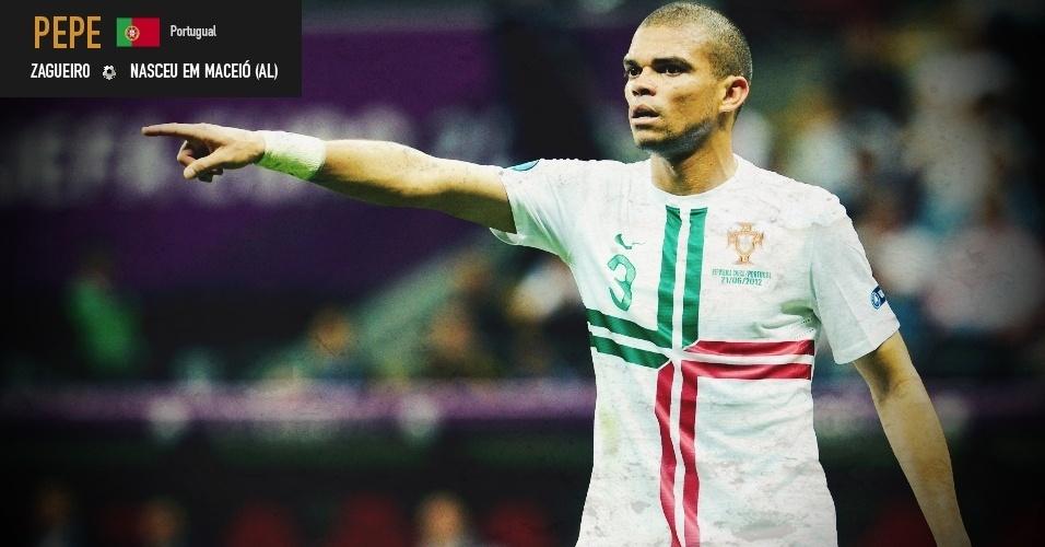 Pepe: zagueiro nasceu em Maceió (AL) e joga pela seleção de Portugal