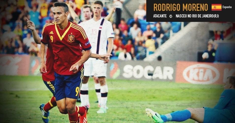 Rodrigo Moreno: atacante nasceu no Rio de Janeiro (RJ) e joga pela seleção sub-20 da Espanha