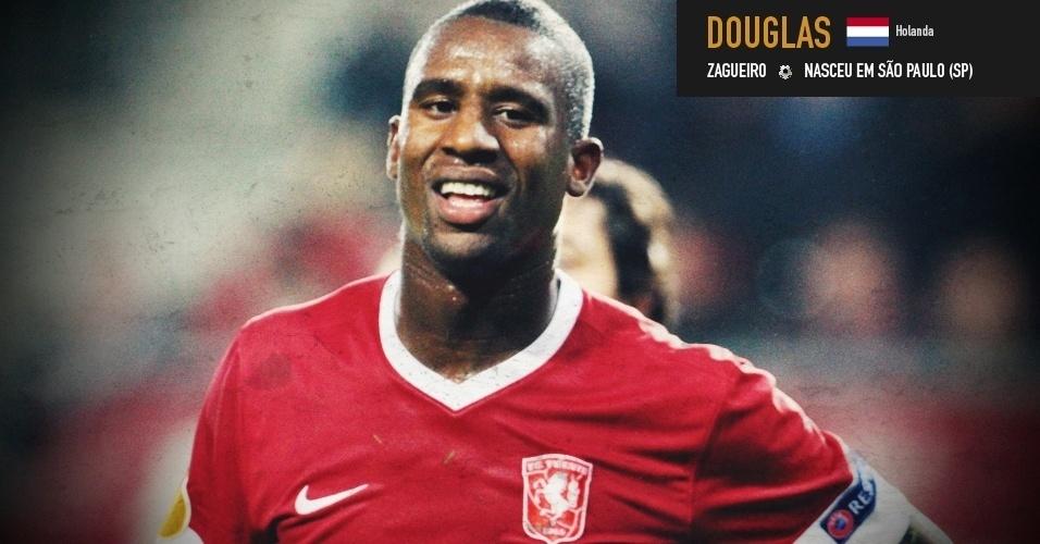 Douglas: zagueiro nasceu em São Paulo (SP) e foi pré-convocado pela seleção do Holanda