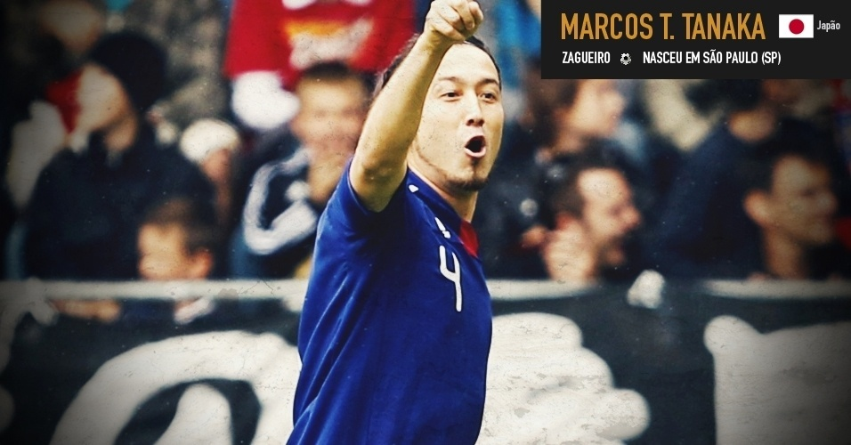 Marcus Túlio Tanaka: zagueiro nasceu em São Paulo (SP) e joga pela seleção do Japão