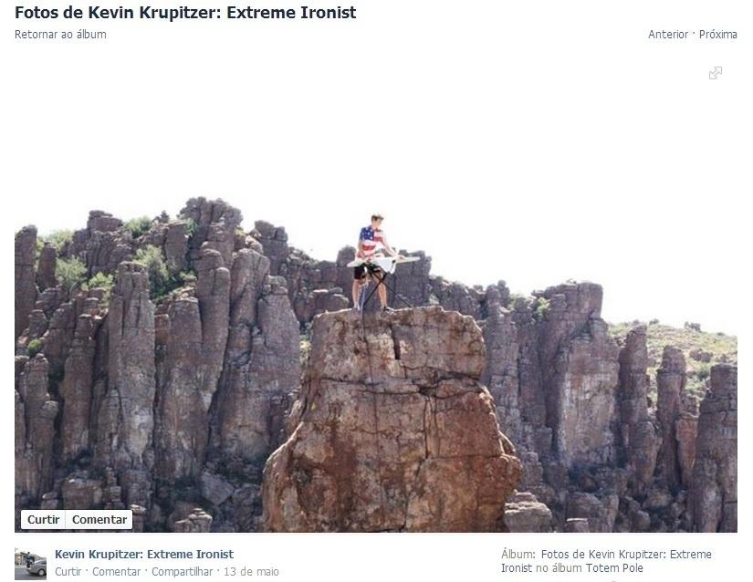 O americano Kevin Krupitzer tem 17 anos e ficou famoso ao postar fotos nas redes sociais passando ferro em suas roupas em locais inusitados