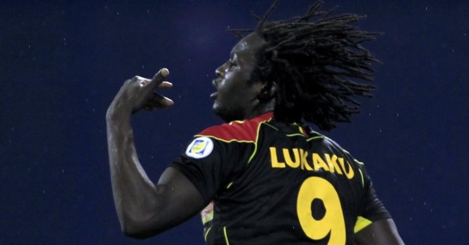11.out.2013 - Lukaku marca seu segundo gol no jogo contra a Croácia pelas eliminatórias da Copa-14. Belga arrancou em velocidade, superando zagueiros e o goleiro
