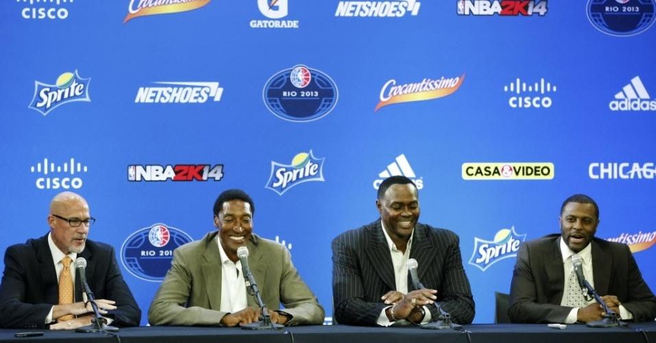 12.out.2013 - Jogo entre Chicago Bulls e Washington Wizards faz parte do NBA Global Games, circuito realizado na pré-temporada da liga de basquete