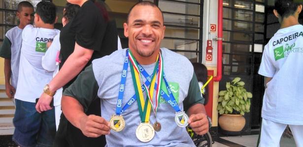 Luciano Luna de Oliveira, atleta pentacampeão brasileiro de remo e 6º nas paraolimpíadas de Londres - Jones Rossi/UOL
