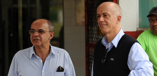 Bandeira de Mello (e) e Wallim Vasconcelos (d): nova polêmica nos bastidores - Alexandre Vidal/Fla Imagem