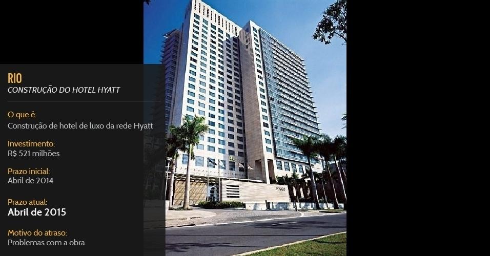 Construção de hotel de luxo da rede Hyatt, com financiamento federal, deve ficar pronta em abril de 2015