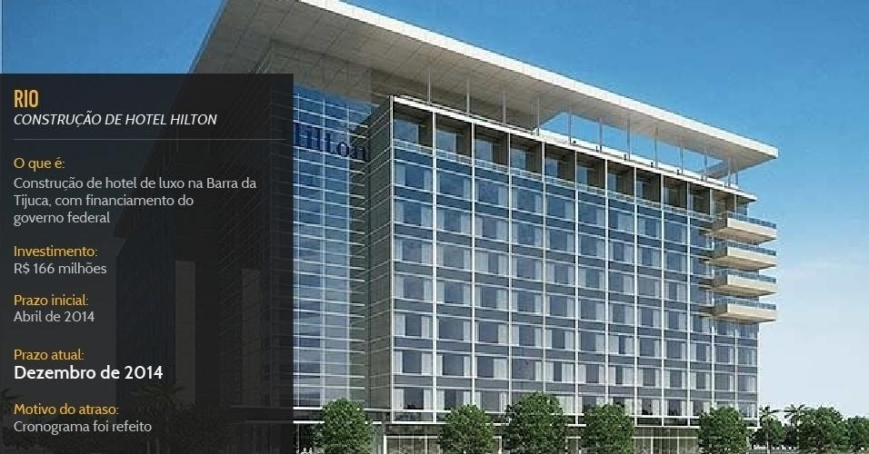 Hotel de luxo na Barra da Tijuca, com financiamento do governo federal, deve ser inaugurado em dezembro de 2014, seis meses após a Copa