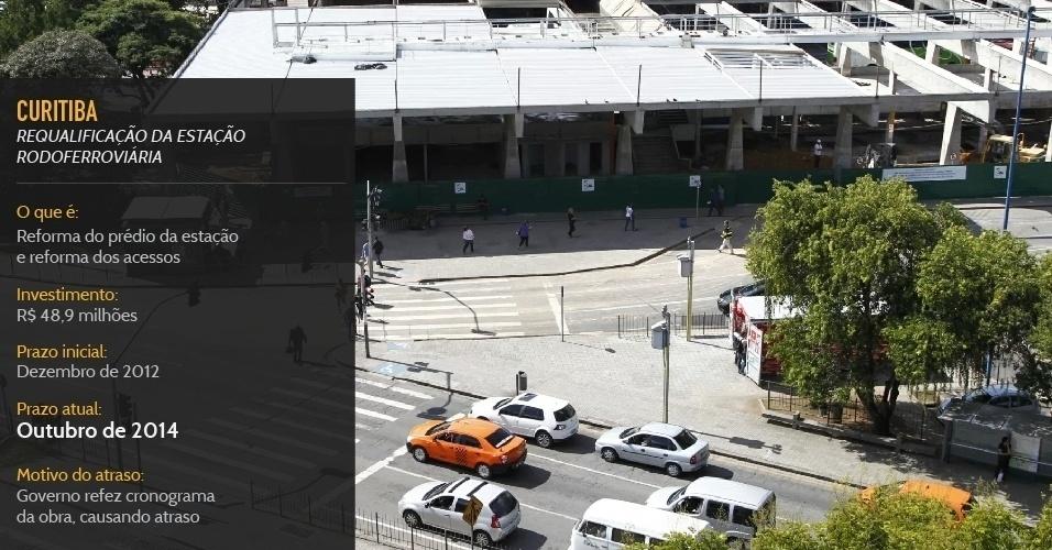 Reforma do prédio da estação Rodoferrofiária de Curitiba e reforma dos acessos, deve ser concluída em outubro de 2014