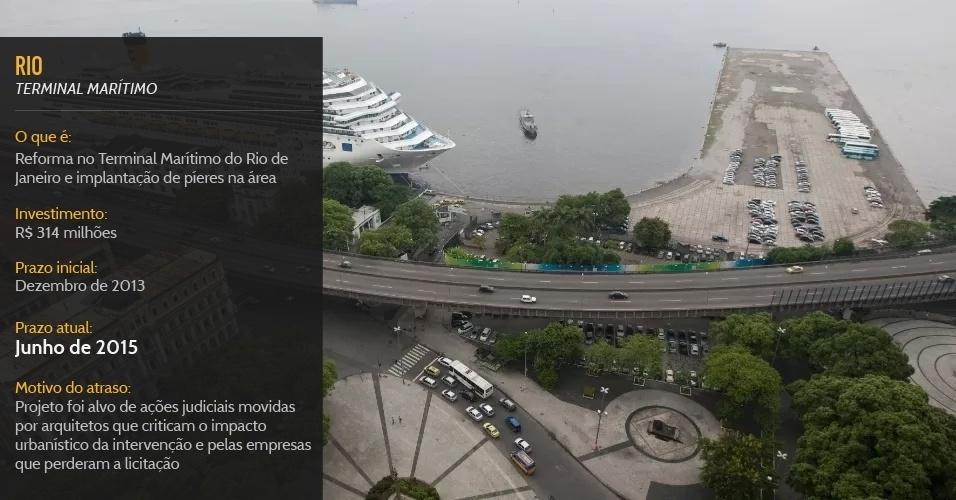 Reforma no Terminal Marítimo do Rio de Janeiro deve ficar pronta em junho de 2015, um ano após Copa do Mundo