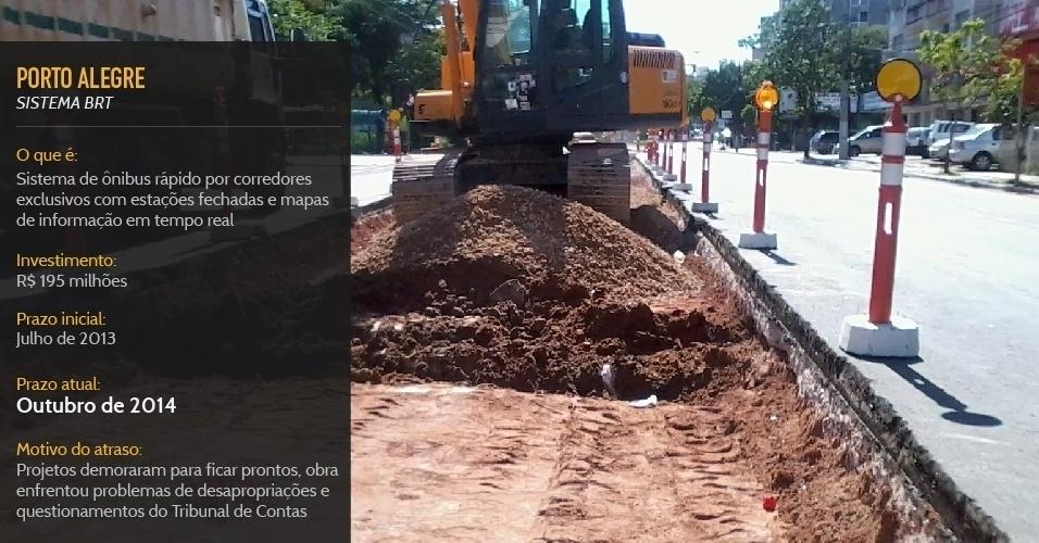 Sistema de ônibus rápido por corredores exclusivos de Porto Alegre deve entrar em operação em outubro de 2014