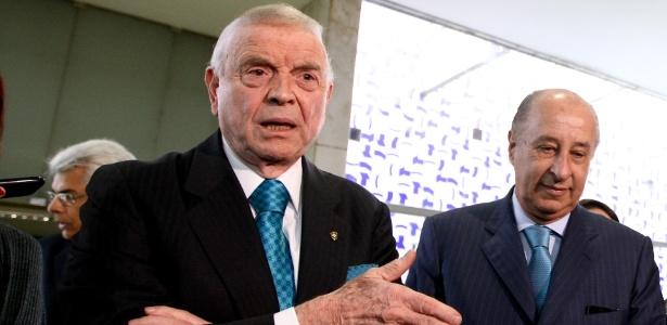 José Maria Marin, presidente da CBF, e o vice, Marco Polo del Nero, candidato da situação