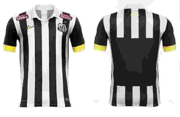 86c0c0426a Santos inclui detalhes amarelos e ponto de comemoração em nova 2ª camisa