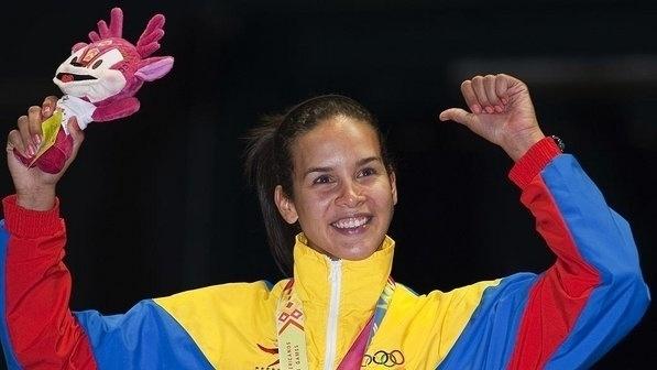 23.out.2013 - Alejandra Benitez foi vice-campeã na esgrima dos Jogos Pan-Americanos de 2003 e 2011