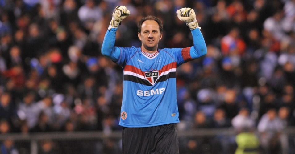 23.out.2013 - Rogério Ceni foi um dos destaques do São Paulo na vitória sobre o Universidad Católica