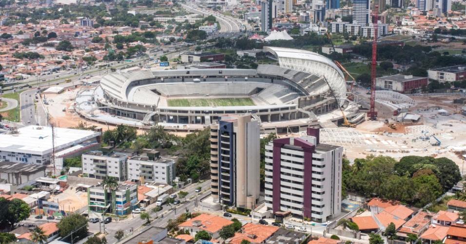 16.09.2013 - Veja como anda a obra da Arena das Dunas, o estádio da Copa de 2014 em Natal