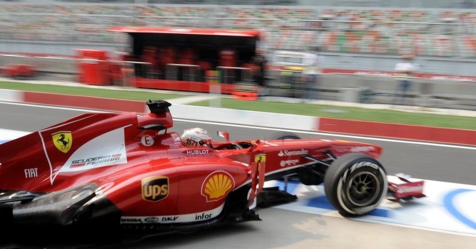 Fernando Alonso admite que será muito difícil reverter vantagem de 90 pontos para o líder Vettel