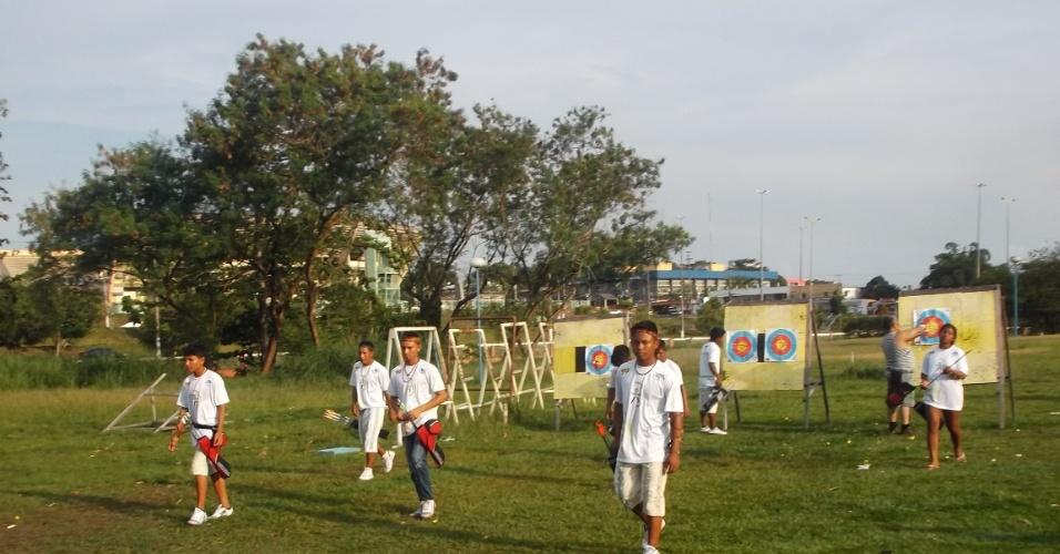 Índios passaram um peneiras não só nas aldeias, mas também no centro olímpico