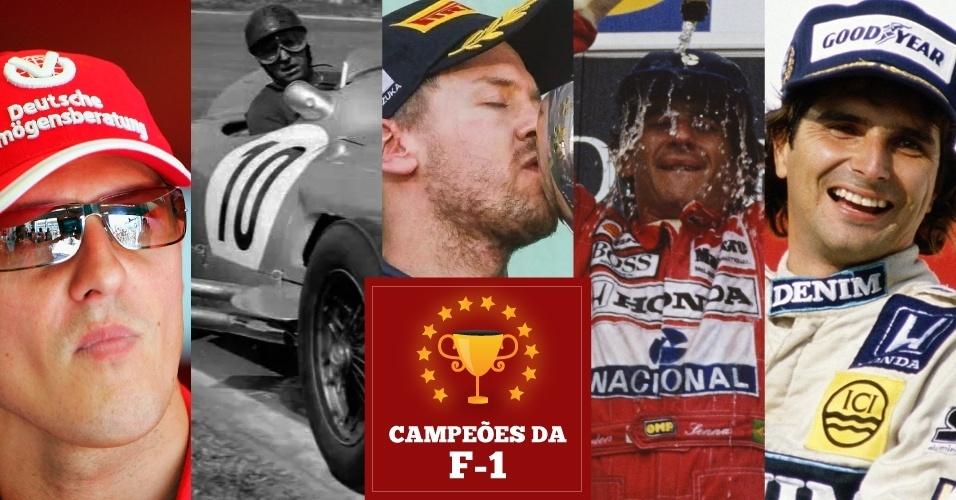 Todos os campeões da Fórmula 1