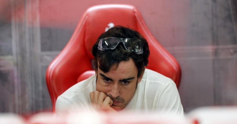 26.out.2013 - Para manter viva a chance de ser campeão neste ano, Fernando Alonso precisa vencer no domingo e torcer para Vettel não ser pelo menos quinto