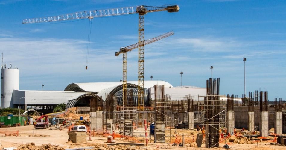 Fortaleza: ampliação do terminal de passageiros teve 25% dos serviços concluídos em setembro e deve ficar pronta em março