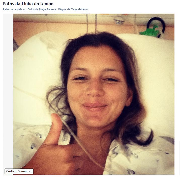 Maya Gabeira posta foto direto do hospital em que foi internada após sofrer queda em competição de ondas grandes em Portugal