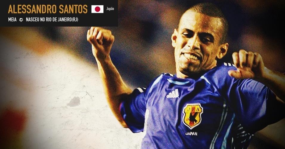 Alex Santos: nasceu no Rio de Janeiro, foi para o Japão ainda adolescente e defendeu a seleção asiática