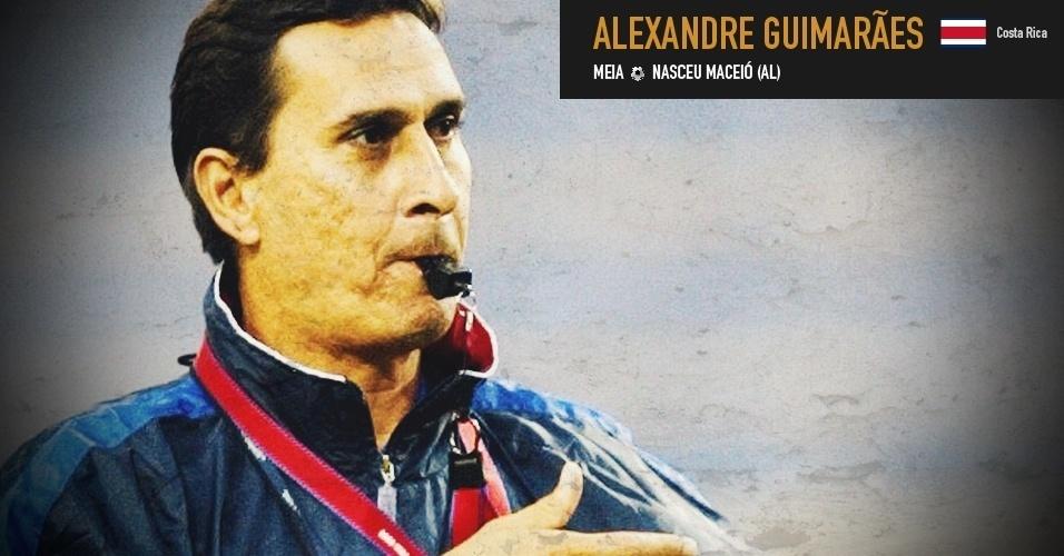 Alexandre Guimarães: Nasceu em Alagoas e defendeu a seleção da Costa Rica