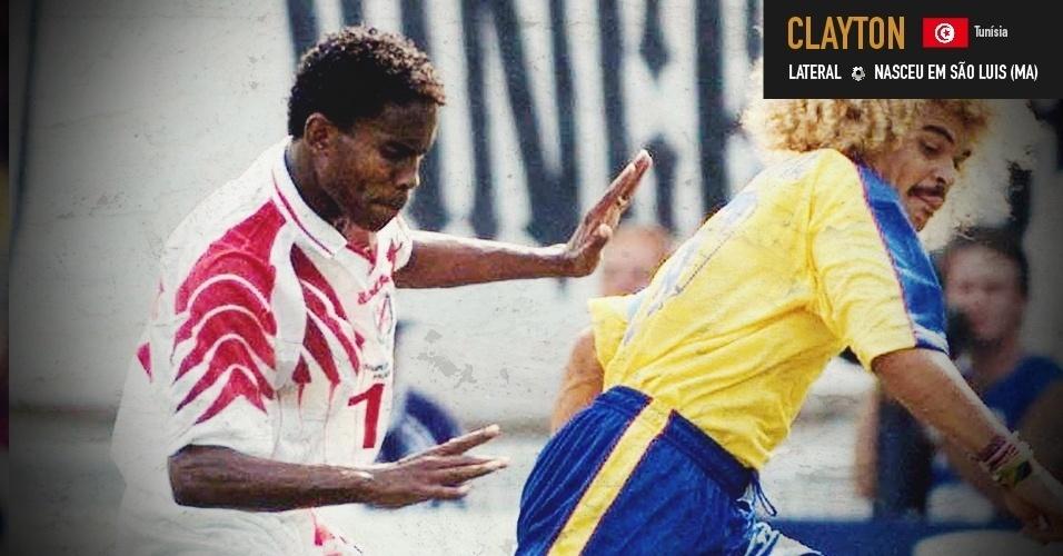 Clayton: lateral do Maranhão defendeu a Tunísia em duas Copas do Mundo