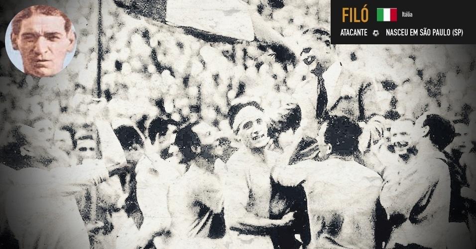 Filó: ex-jogador do Corinthians, venceu a Copa de 1934 pela Itália