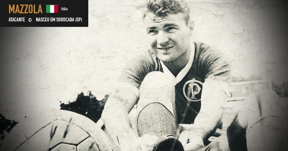 Mazzola: atacante nasceu em Piracicaba (SP), defendeu o Brasil na Copa de 1958 e a Itália na Copa de 1962