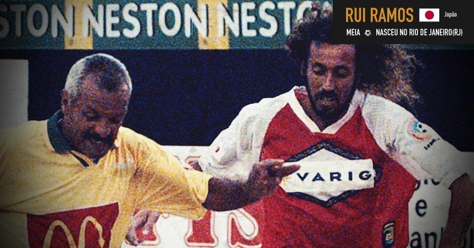 Rui Ramos: carioca, foi um dos ícones do futebol japonês na década de 90 e acabou na seleção