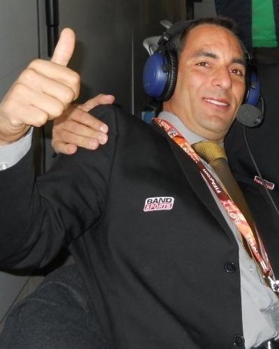 Téo José ao lado de Edmundo, em transmissão durante a Copa do Mundo de 2010