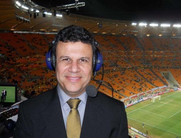 Téo José durante a Copa do Mundo da África do Sul, em 2010