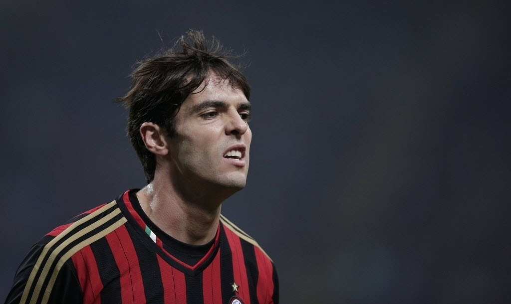 02.nov.2013 - Kaká, meia do Milan, foi titular da equipe na partida contra a Fiorentina, no San Siro, pelo Campeonato Italiano
