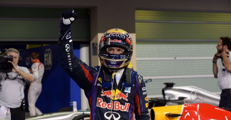 03.11.2013 - Vettel comemora a sétima vitória seguida na Fórmula 1