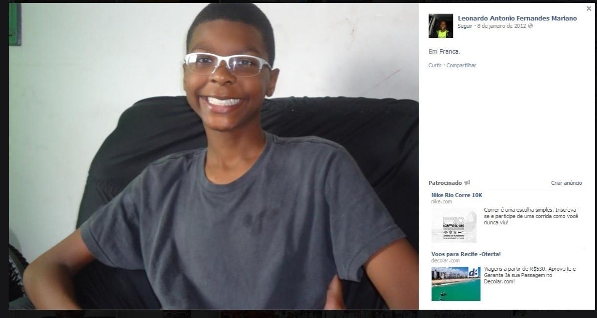 03.nov.2013 - Leonardo Mariano, 14, era atleta do Vivo/Franca e morreu neste domingo