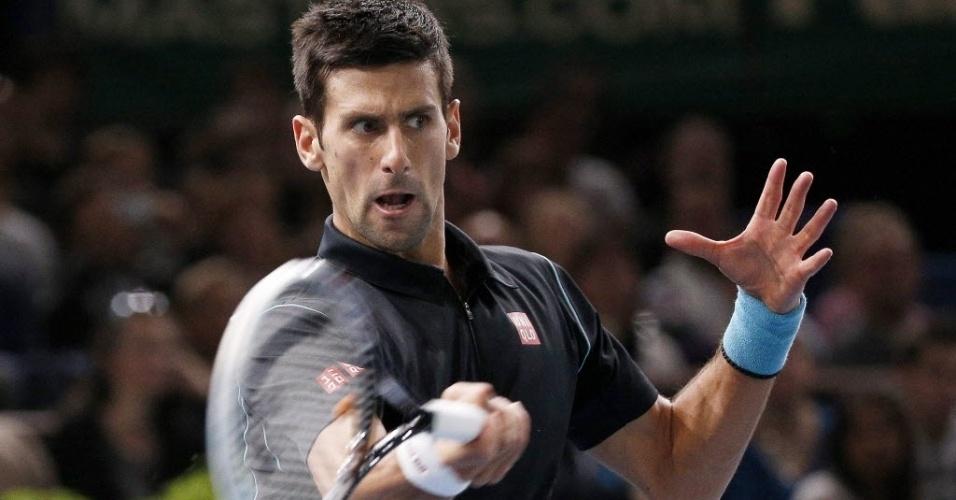 Djokovic rebate na decisão do Masters 1000 de Paris, contra o espanhol David Ferrer