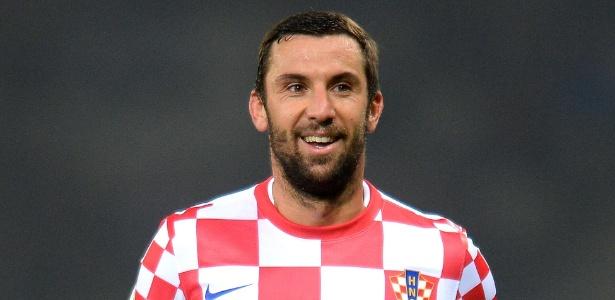 Srna em ação pela Croácia: opção para a lateral do Barcelona