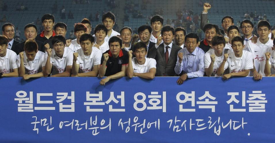 18.jun.2013 - Apesar da derrota por 1 a 0 para o Irã, a Coreia do Sul também garantiu sua classificação para a Copa do Mundo-2014