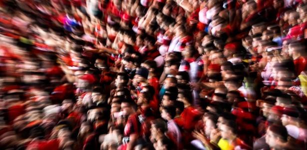 6.Nov.2013 - Imagem mostra a torcida do Flamengo durante as semifinais da Copa do Brasil'