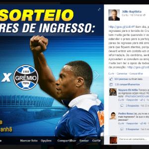 Imagem  Reprodução Facebook. 7 novembro 2013 - Júlio Baptista ... 0c0c490152ccb