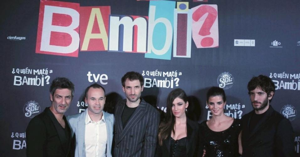 Iniesta participa do lançamento do filme
