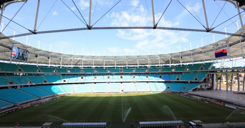 09.nov.2013 - Arena Fonte Nova pouco antes da partida entre Bahia e Atlético-MG